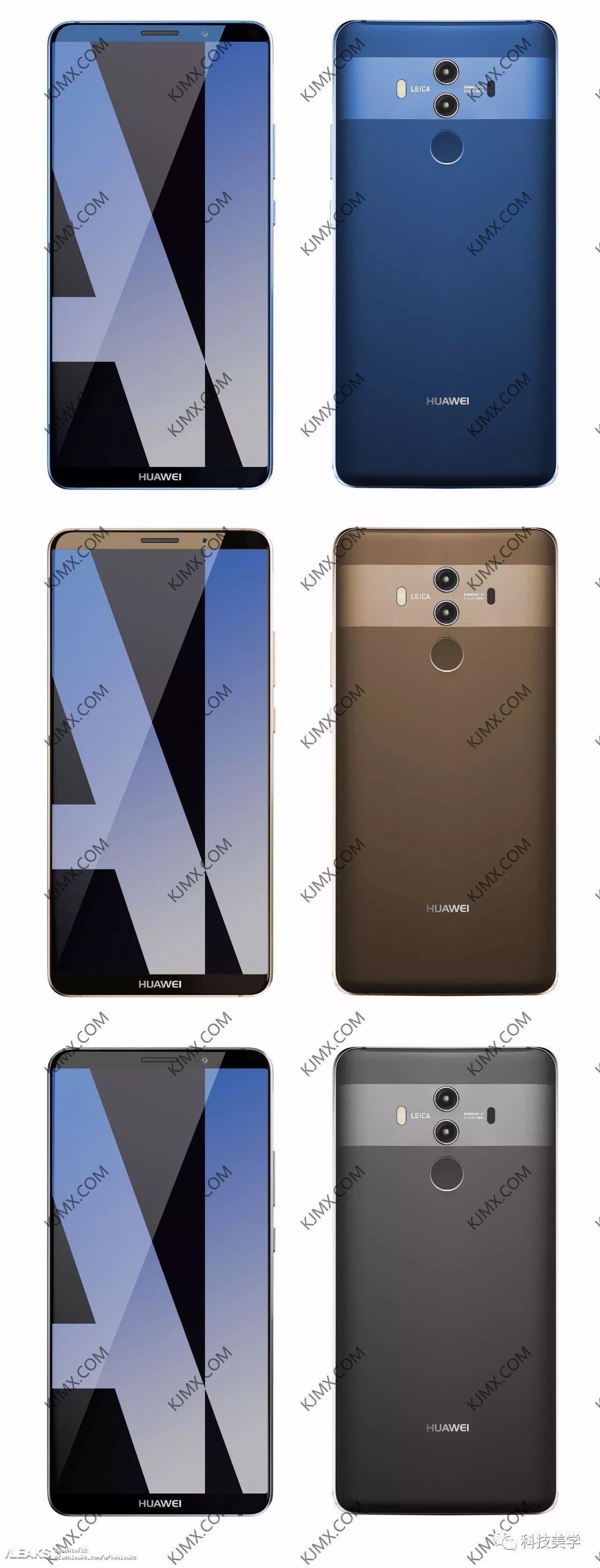 img Yet more Huawei Mate 10 Pro renders leaked