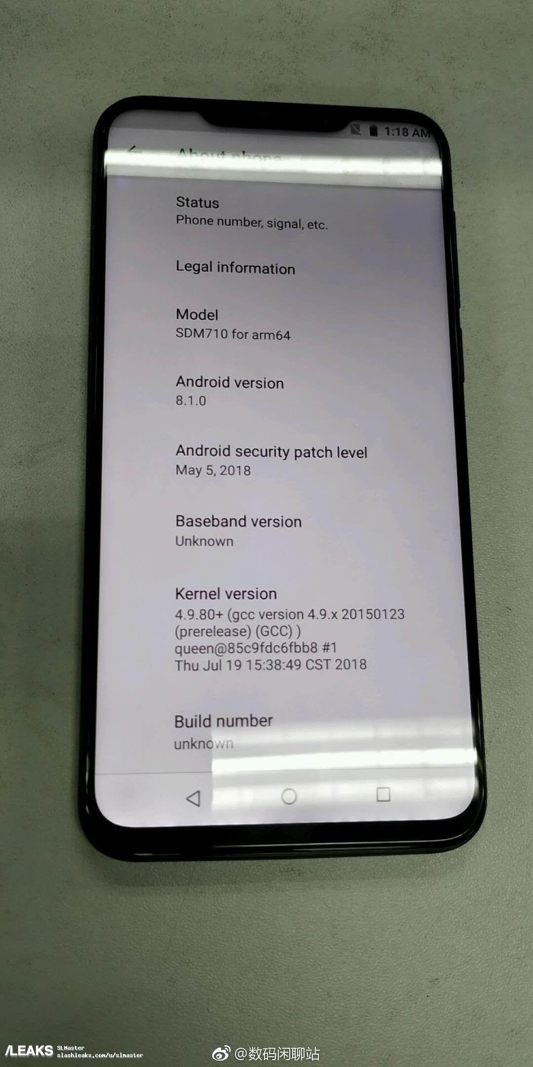 img Meizu X8 developer device leak
