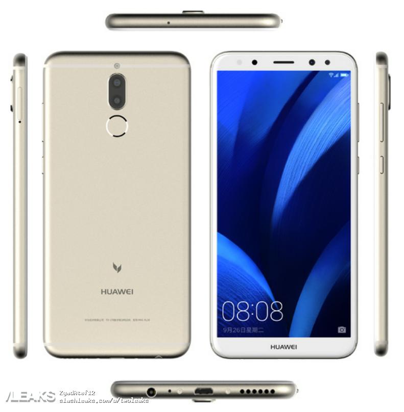 img Huawei Maimang 6 press render + specs