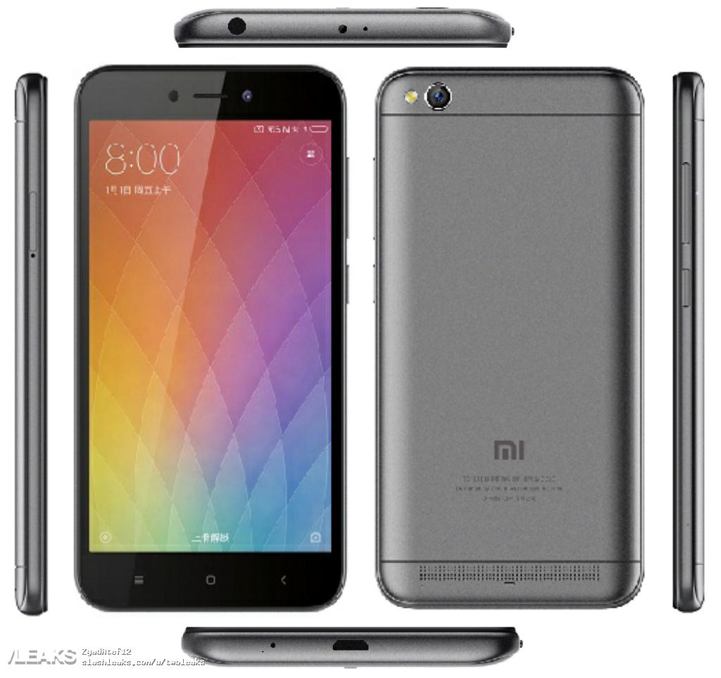img Xiaomi Redmi 5A press render + specs + price