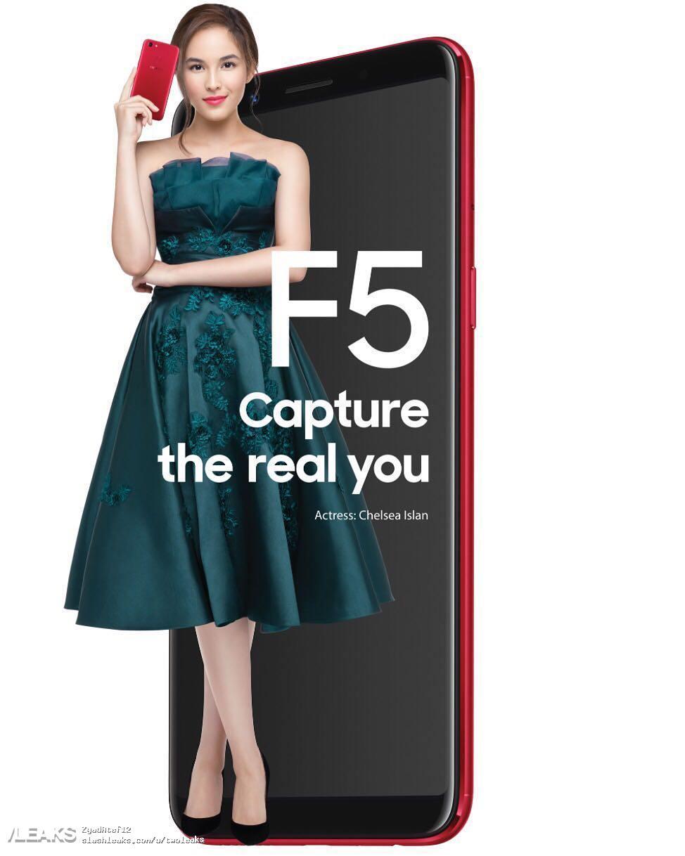 img OPPO F5 poster leaked