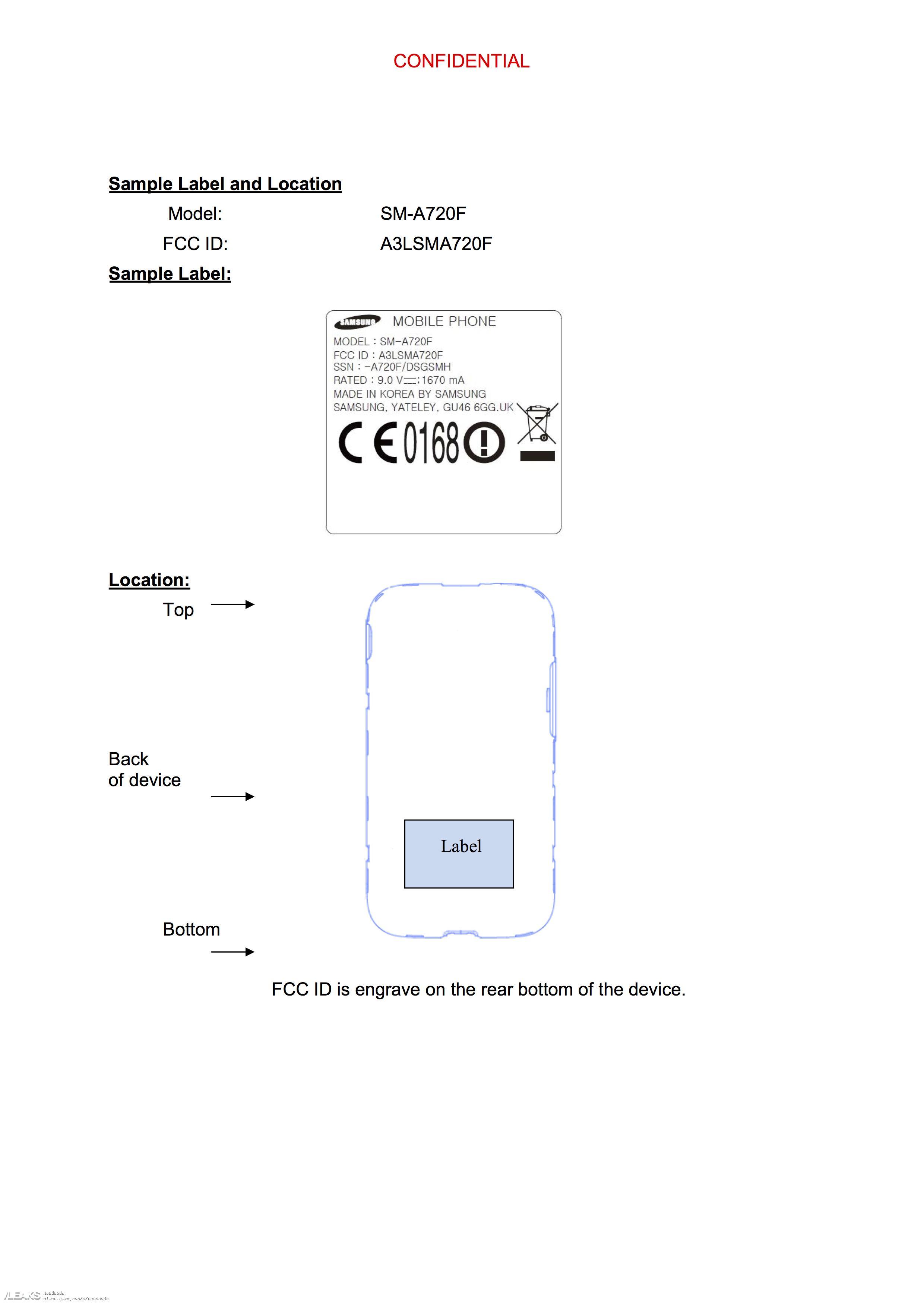 img Galaxy A7 (2017) visits FCC