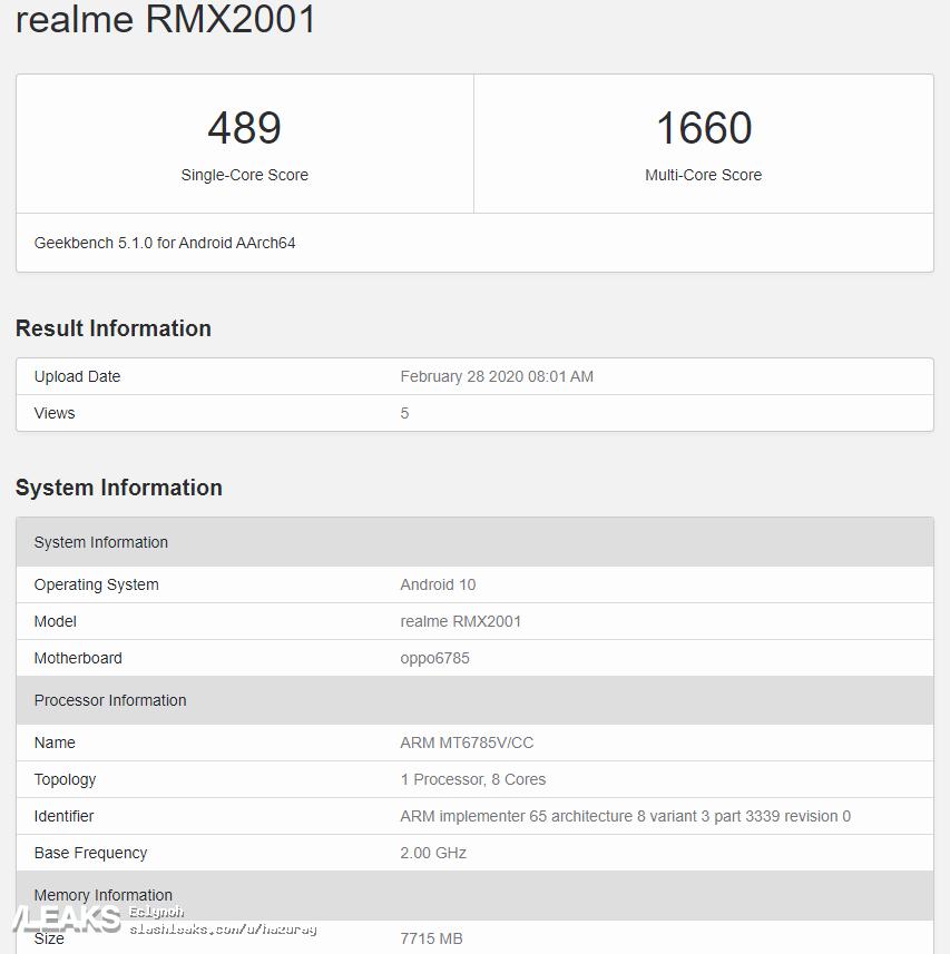 img Realme 6 Confirmed with MediaTek G90T + 8GB RAM Variant