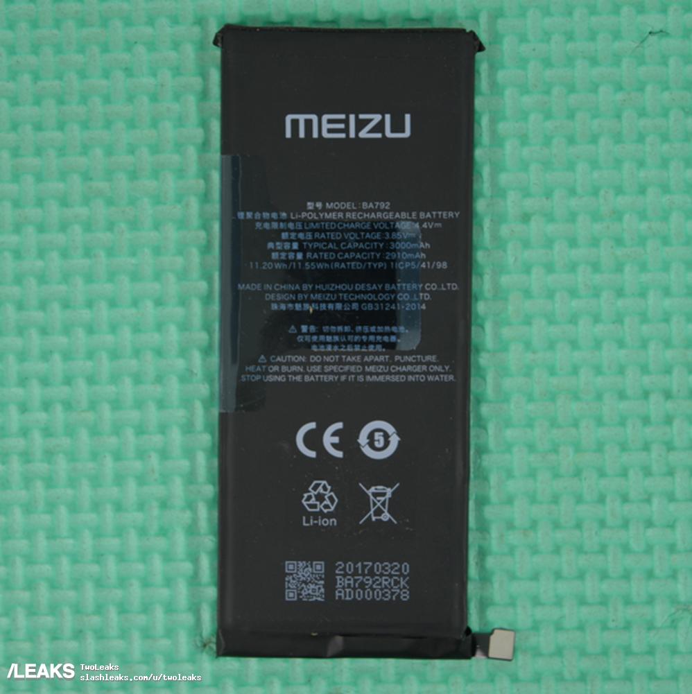 img Meizu Pro 7 3000mAh battery leaked