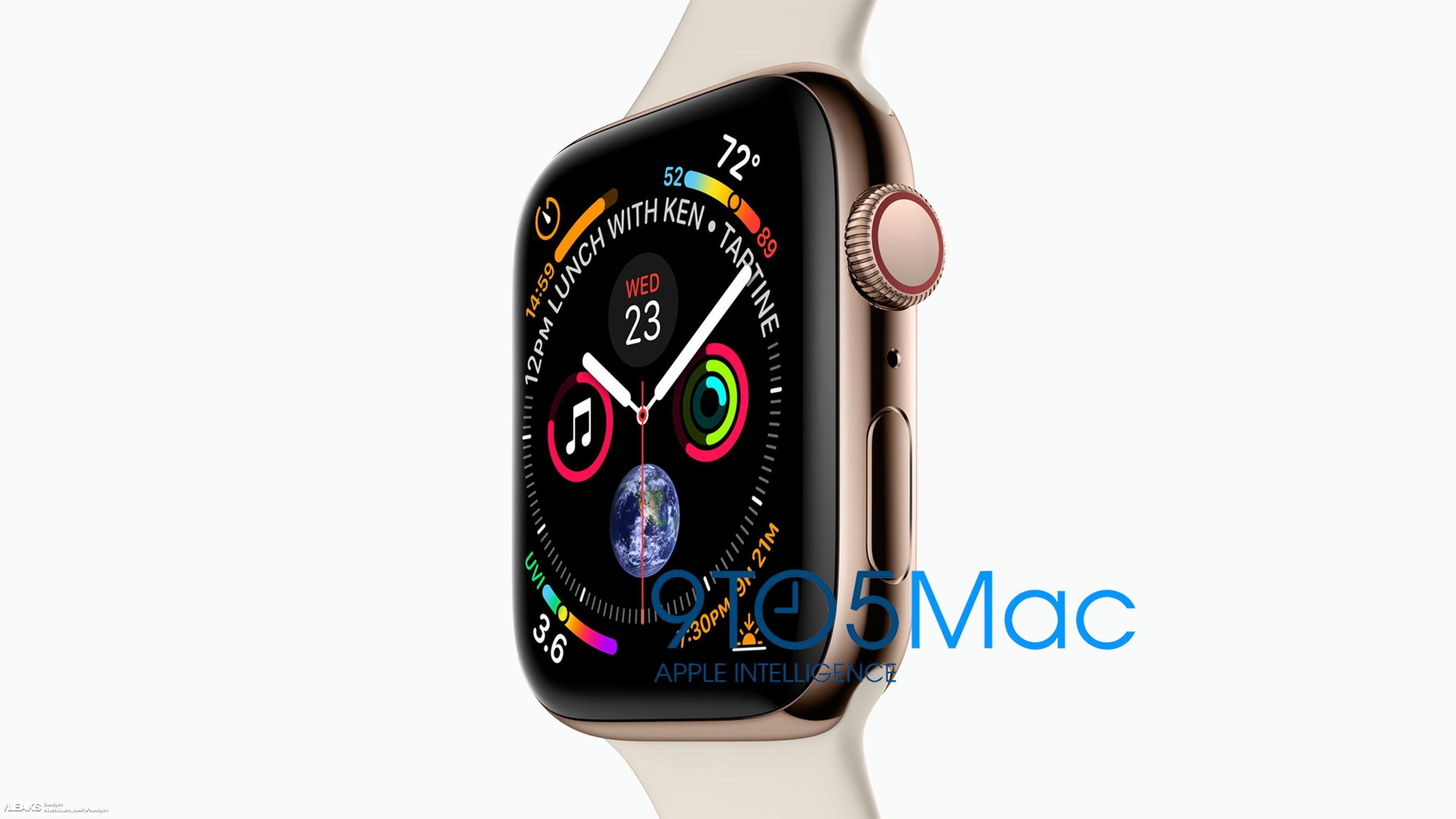 img Apple Watch Series 4 press photo leaked