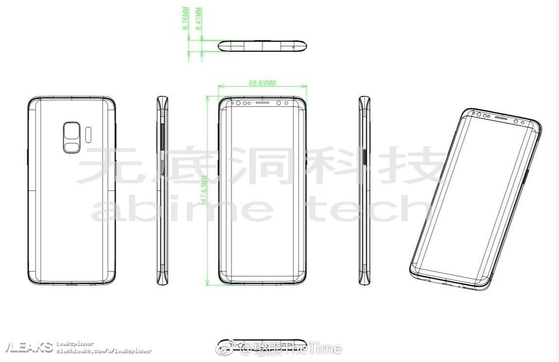 img Yet more alleged Galaxy S9 schematics surfaces