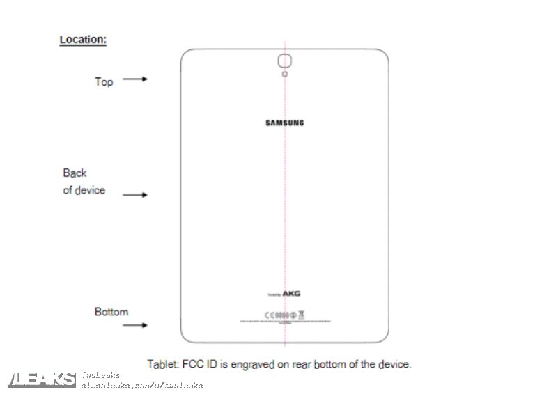 img Galaxy Tab S3 (SM-T820) passes FCC