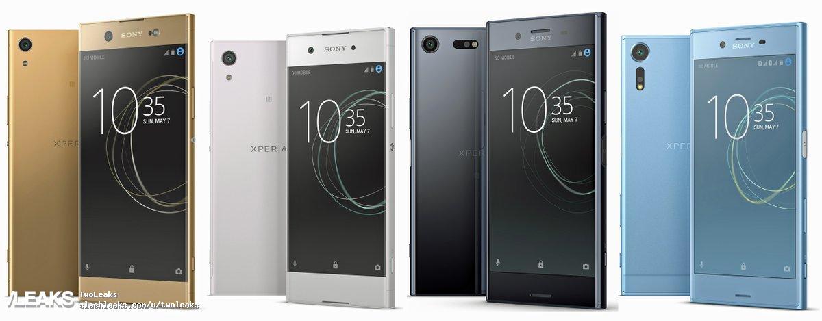 img Sony Xperia (2017) smartphones renders by Evan Blass