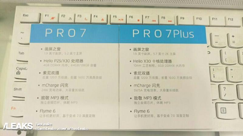 img Meizu Pro 7 Plus specs confirmed