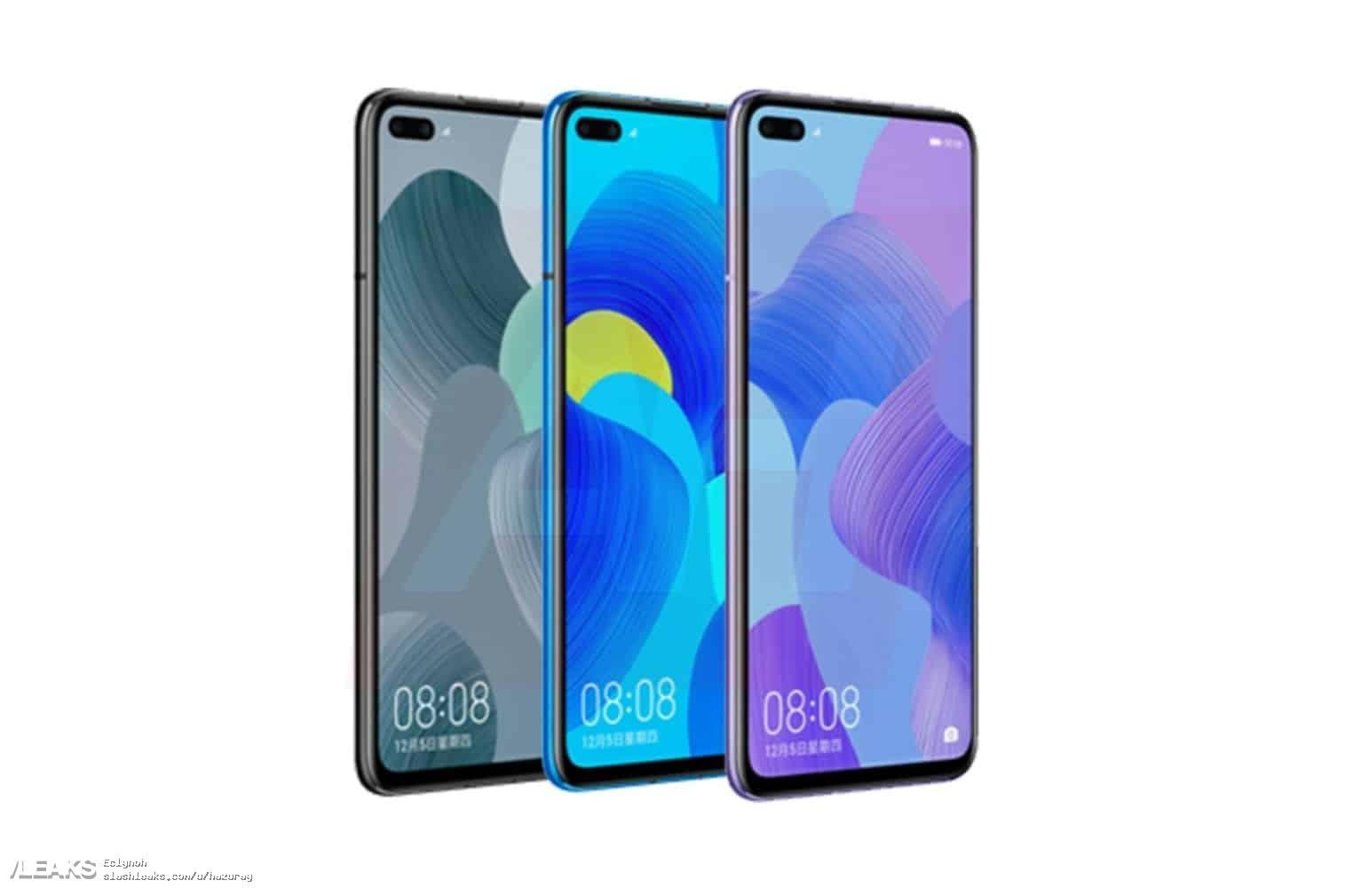 img Huawei Nova 6 4G Render In All Colors