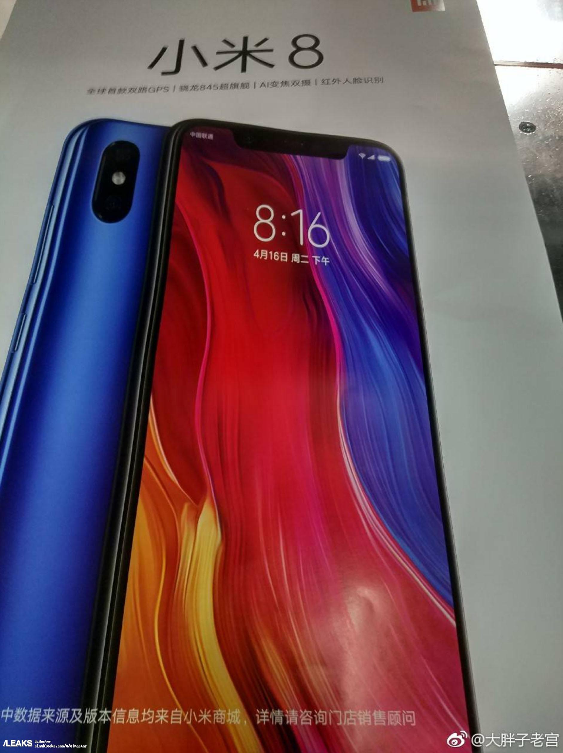 img Xiaomi Mi 8 poster leaked
