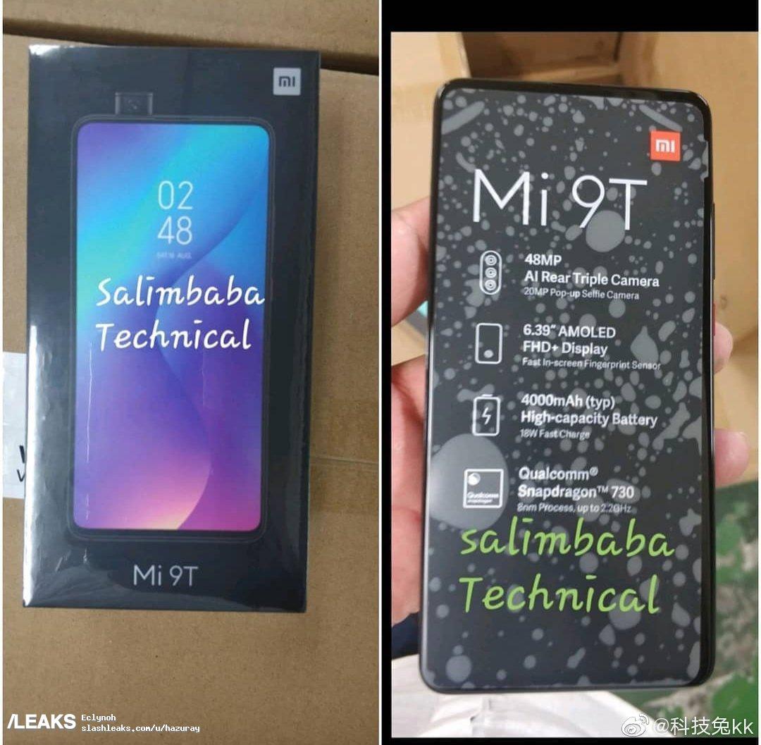 img Xiaomi Mi 9T Box Specifications Leaked (Redmi K20)