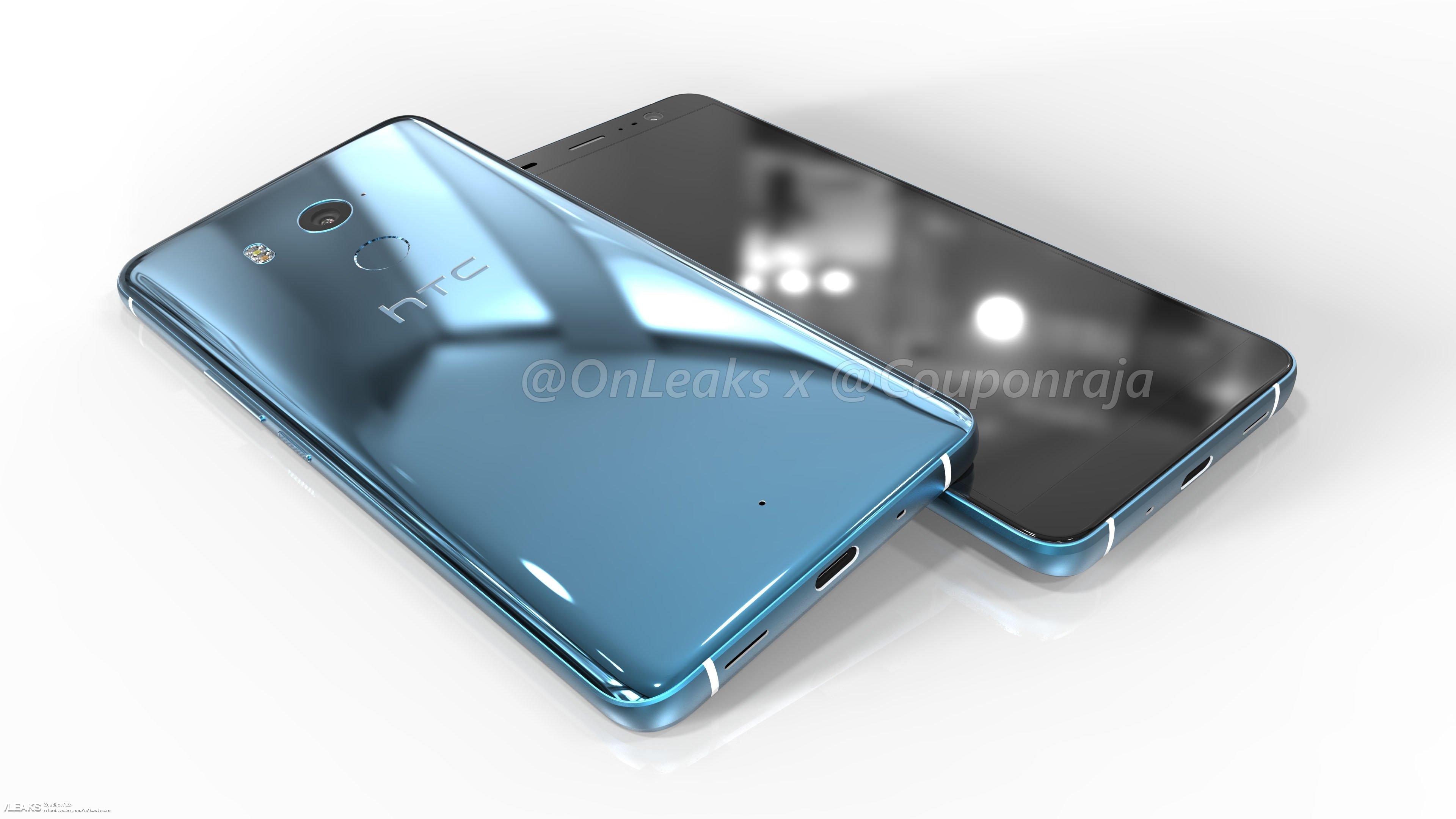 img HTC U11 Plus (Ocean Master) design revealed through 360-degree renders (@OnLeaks)