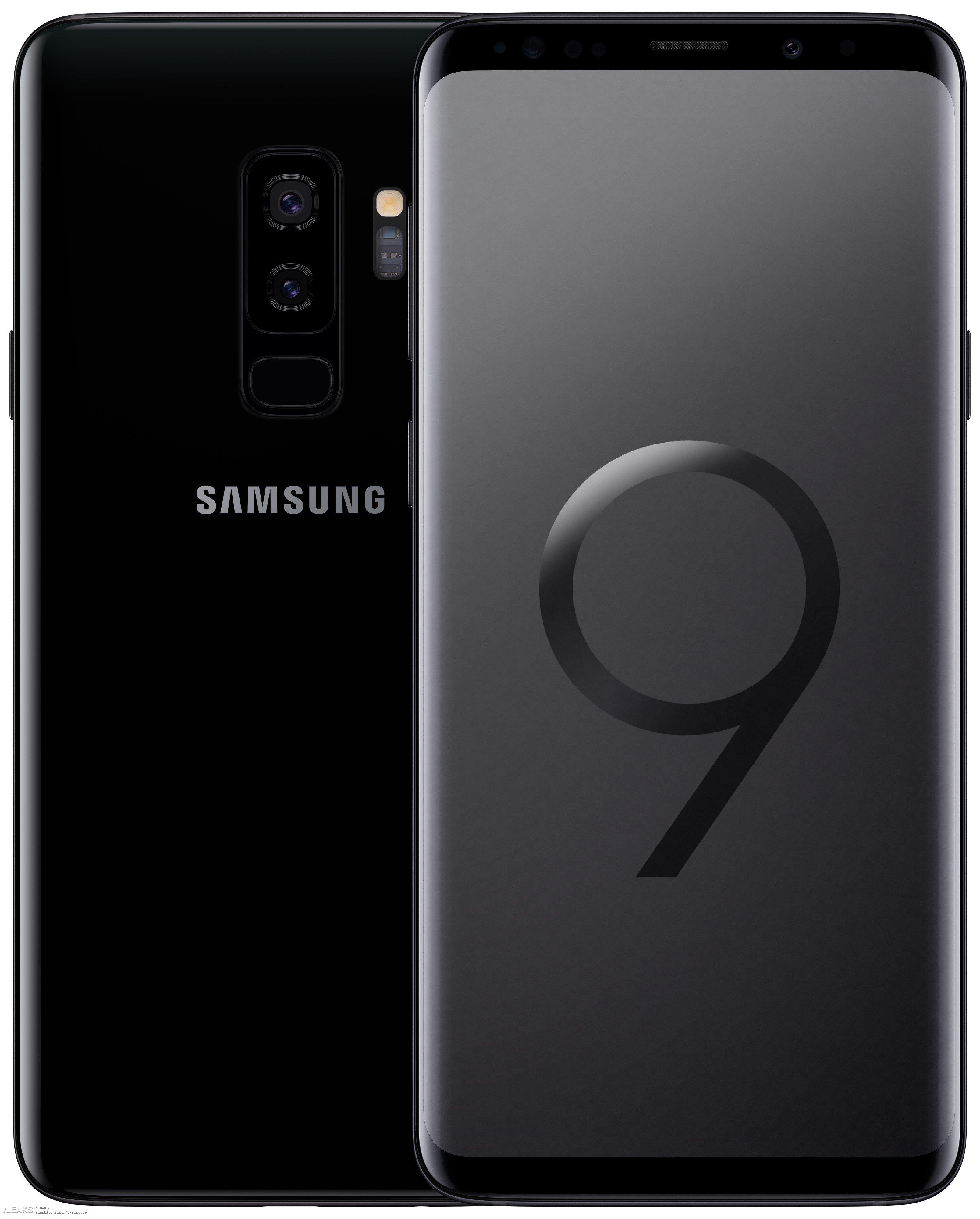 img Galaxy S9 High Resolution Renders in Black & Blue