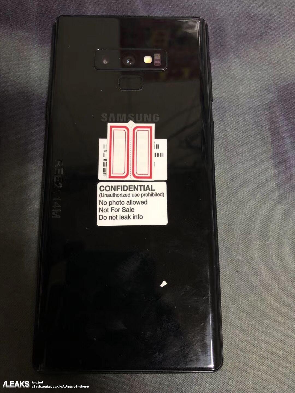 Samsung Galaxy Note 9 parte posterior