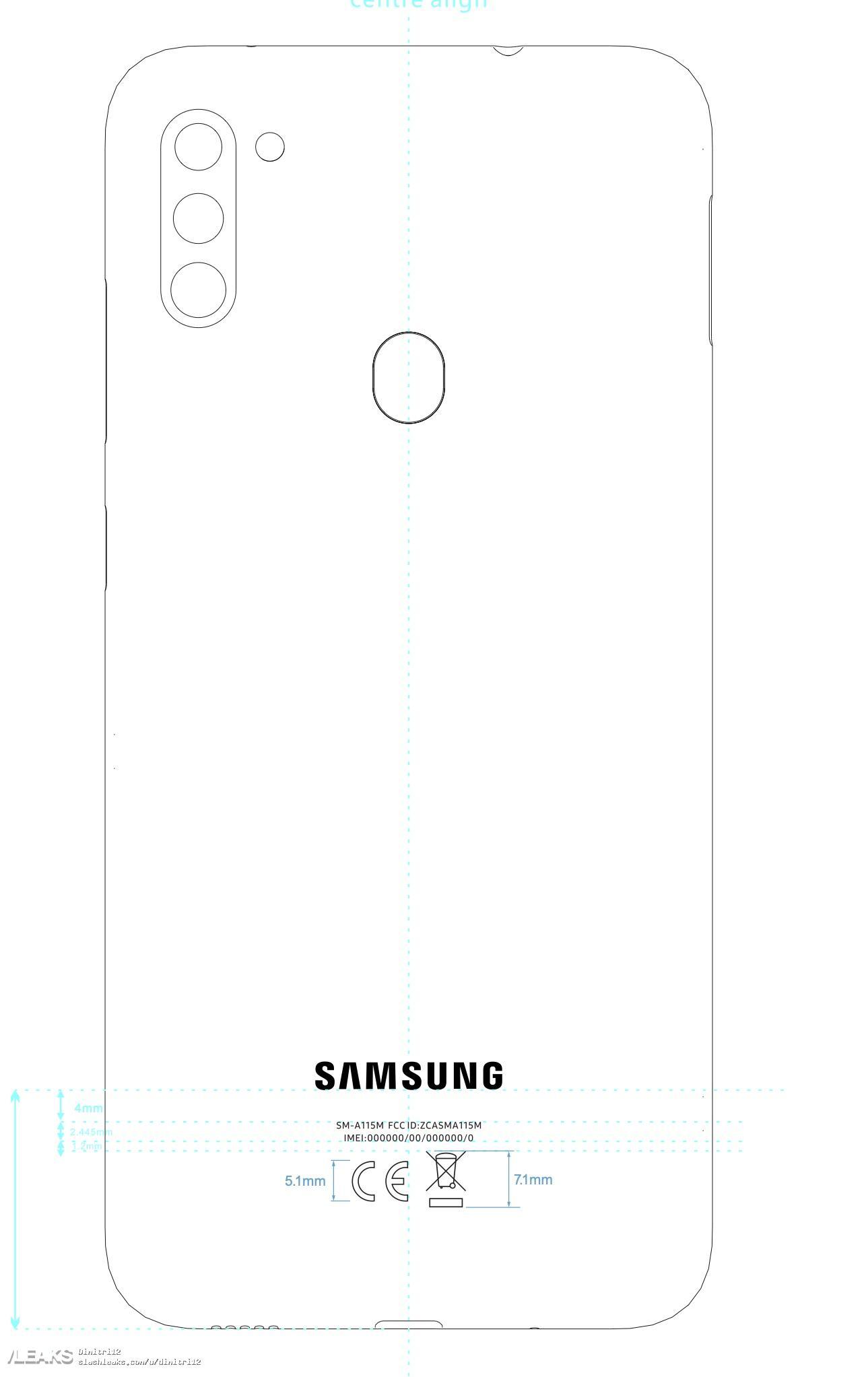 img Galaxy A11 (SM-A115M) schematics leaked by FCC
