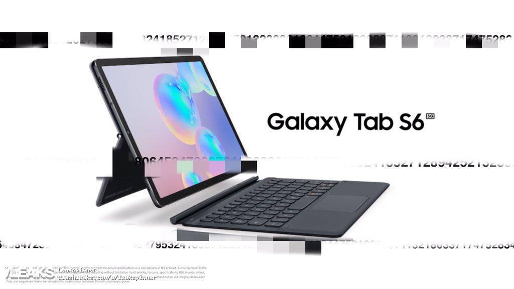 img Alleged Galaxy Tab S6 5G press renders leaked