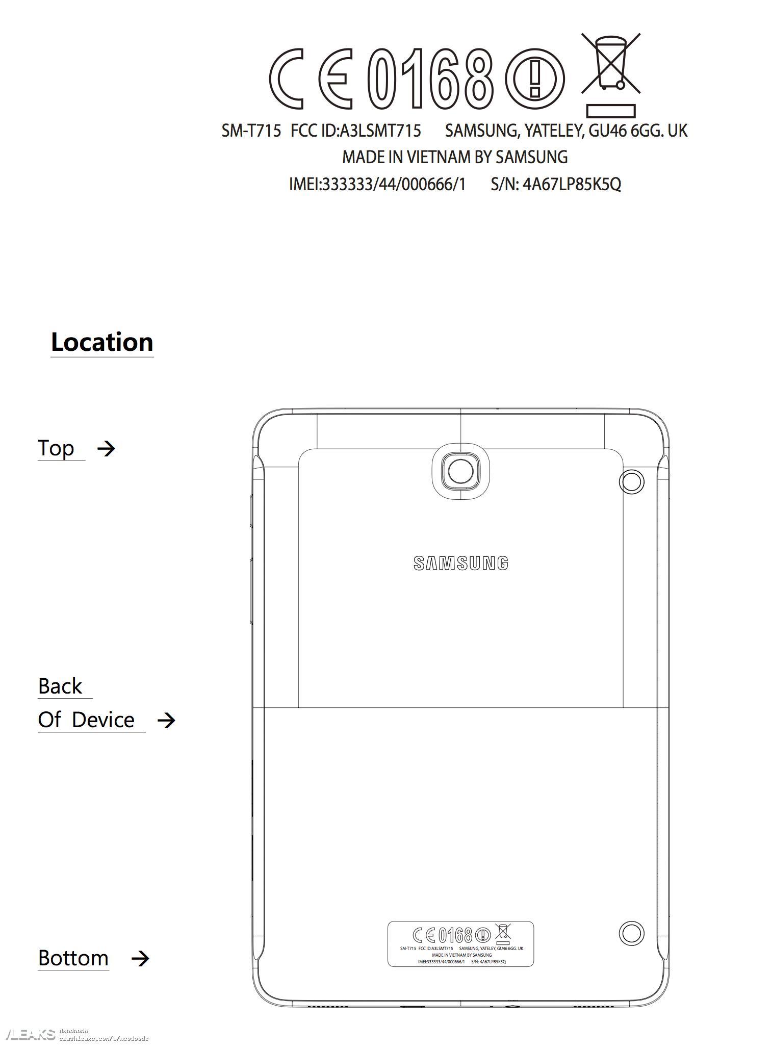 img 8,0-inch Galaxy Tab S2 passes through FCC