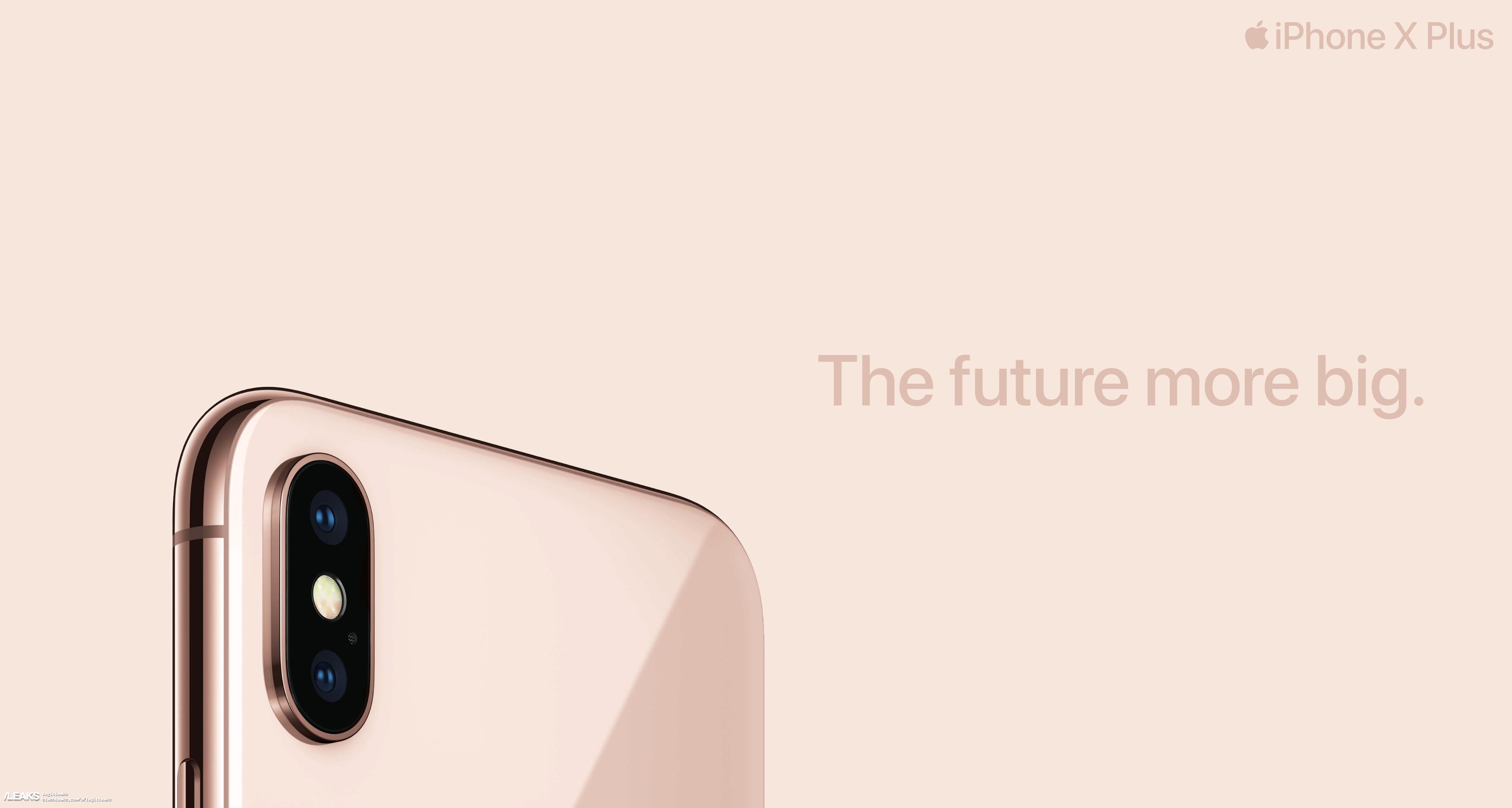 img iPhone X Plus ads reveals gold finish