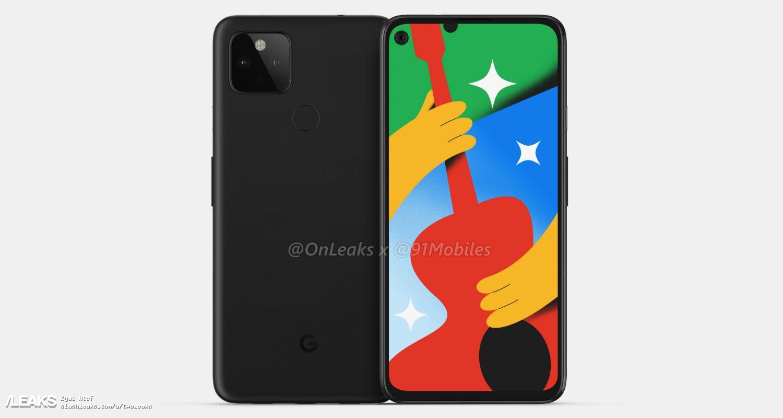 img Google Pixel 4a 5G 360-degree renders by @OnLeaks