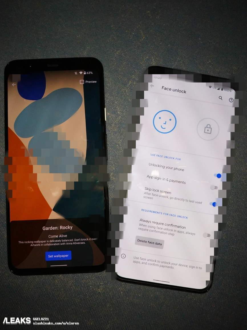 img Google Pixel 5 XL face screen