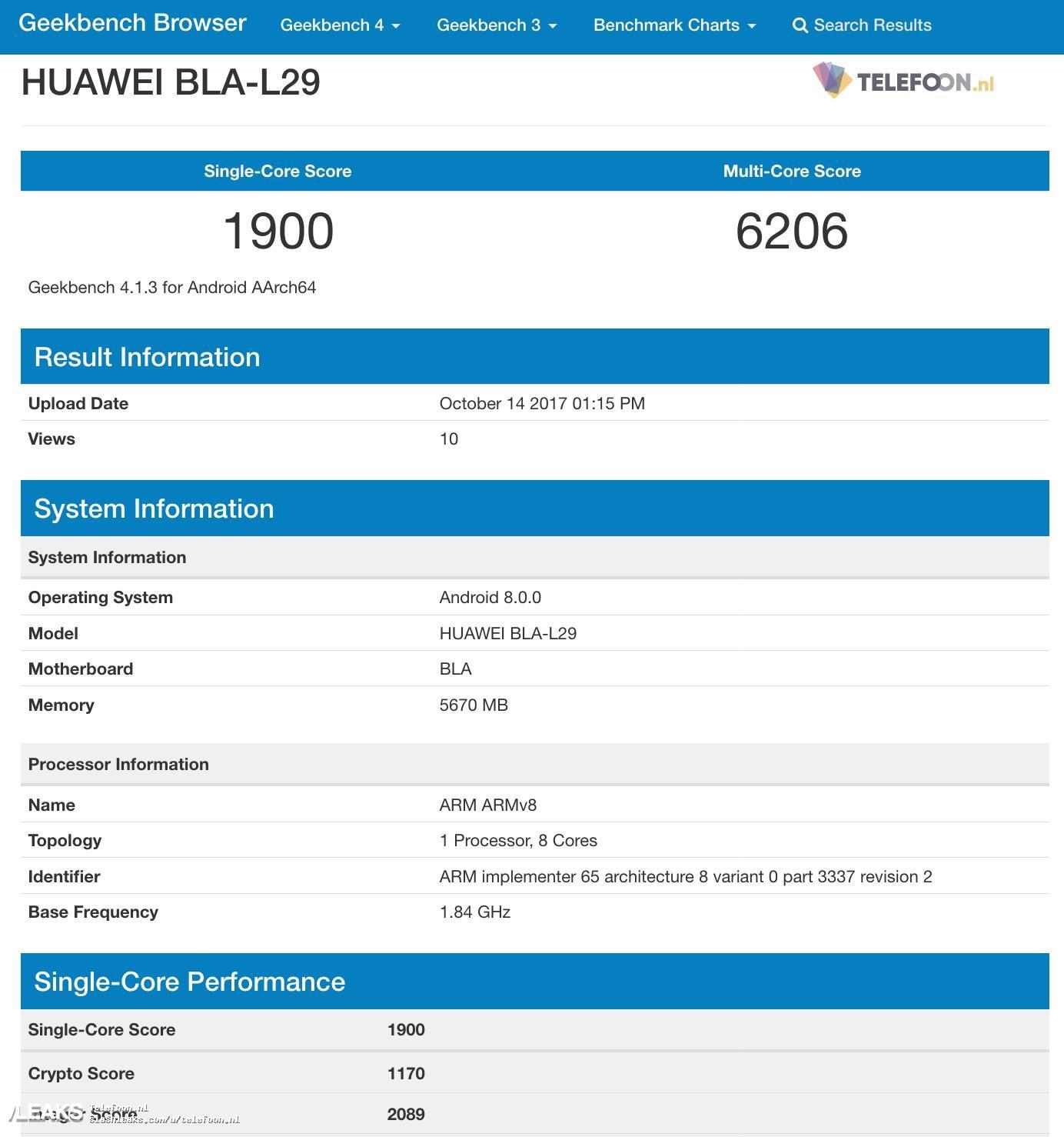 img First benchmark Huawei Mate 10 Pro