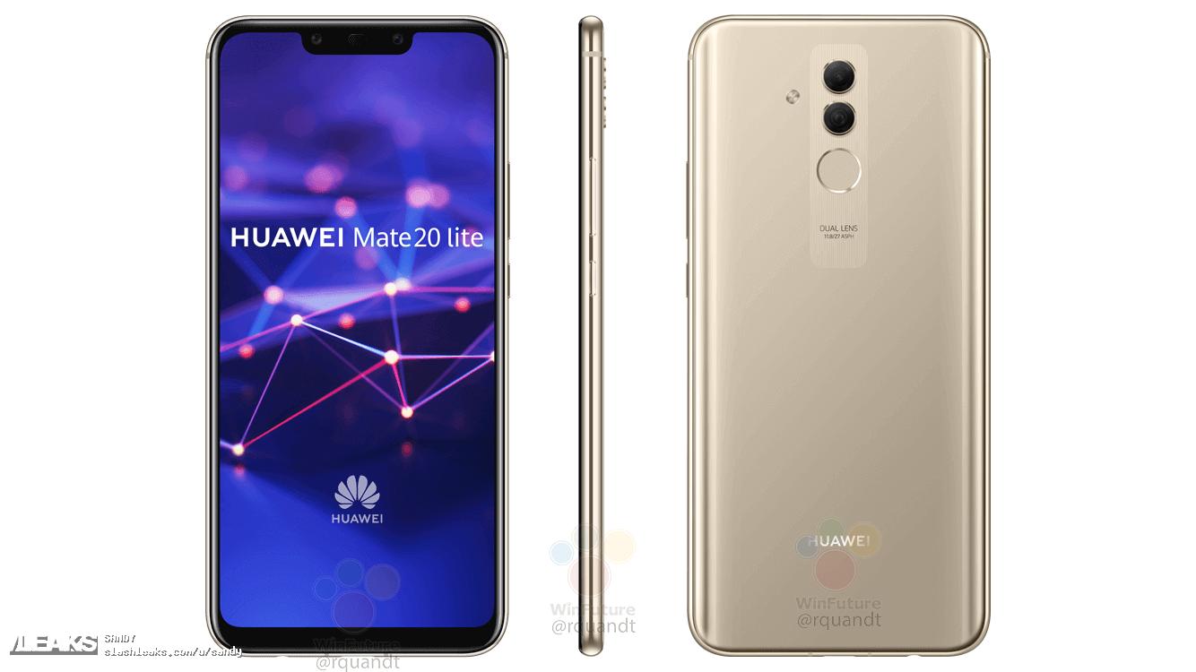 img Huawei mate 20 lite press renders leaked