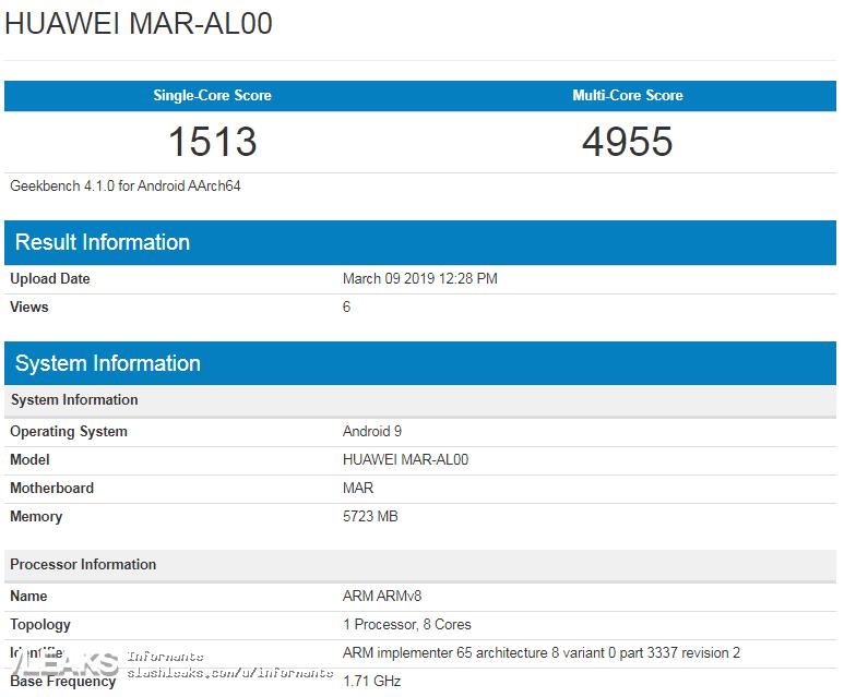 img Huawei Nova 4e benchmark confirms Kirin 710 + 6GB RAM