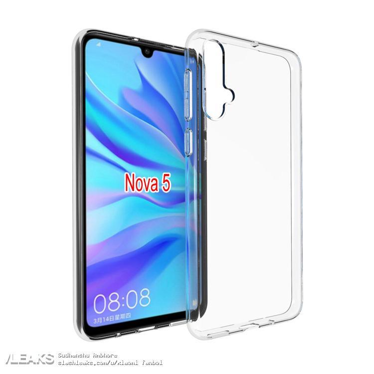 img Huawei Nova 5 case renders leaked