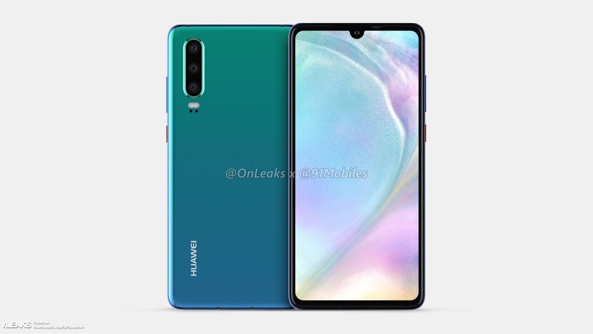 img Huawei P30 renders by Onleaks