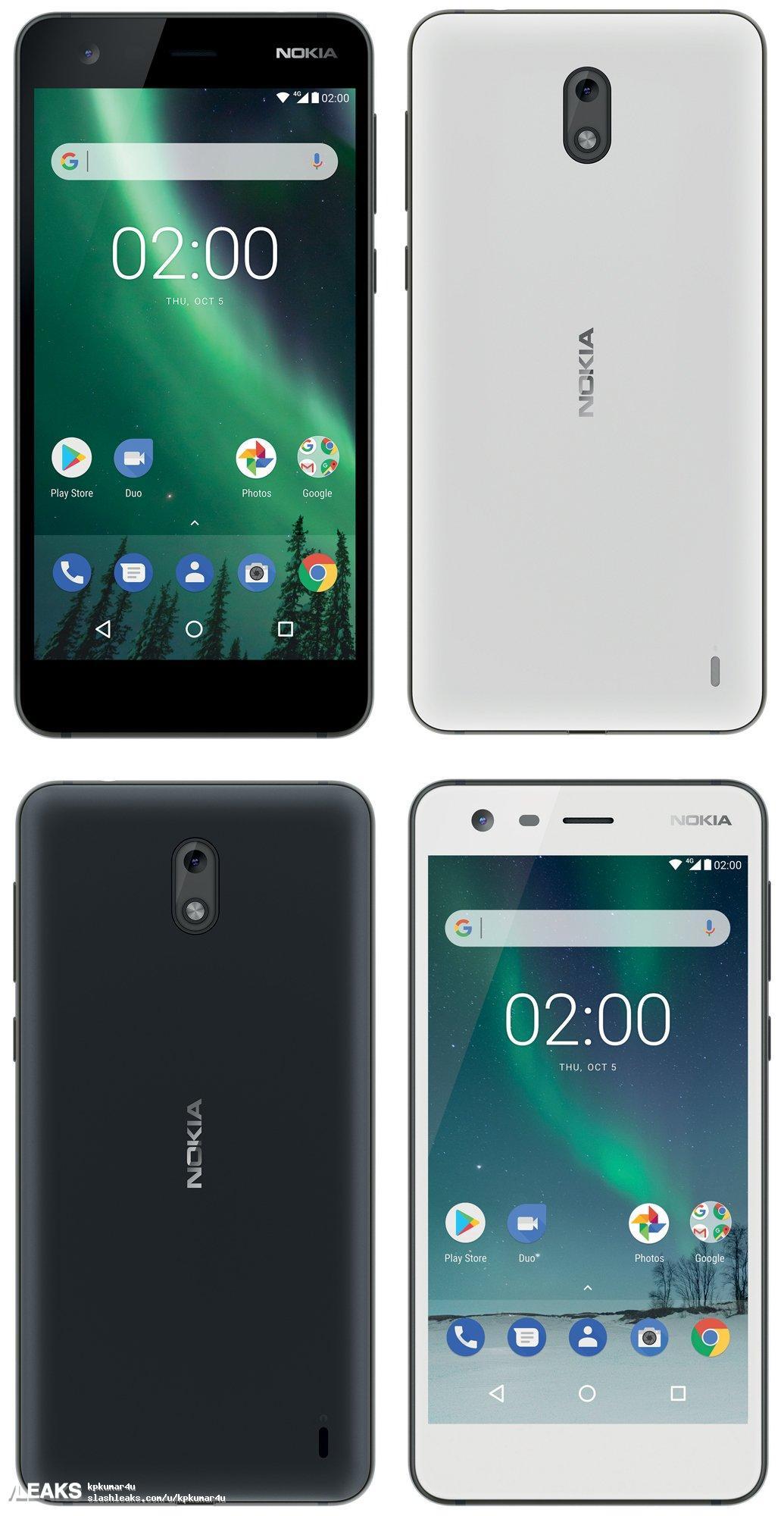 img Nokia 2 Press renders leaked by Evan Blass