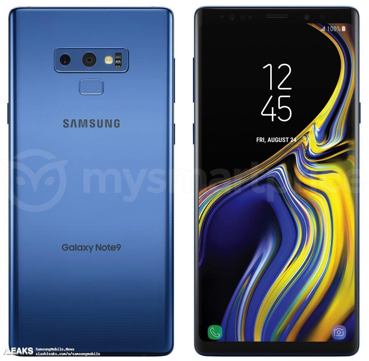 img Galaxy Note9 press render leaked in blue