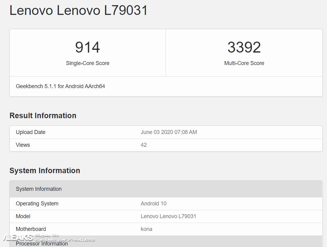 img Lenovo Legion Phone Geekbench Runmark Leaks