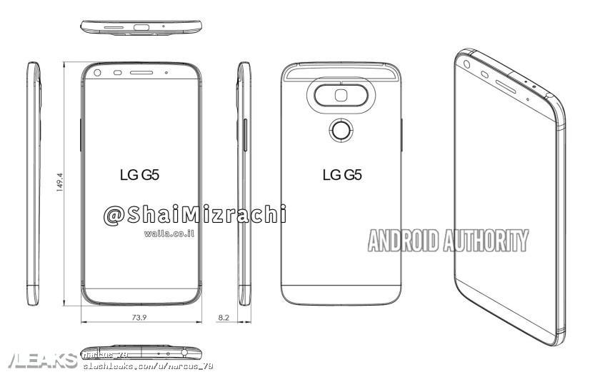 img Alleged LG G5 schematics confirms design overhaul