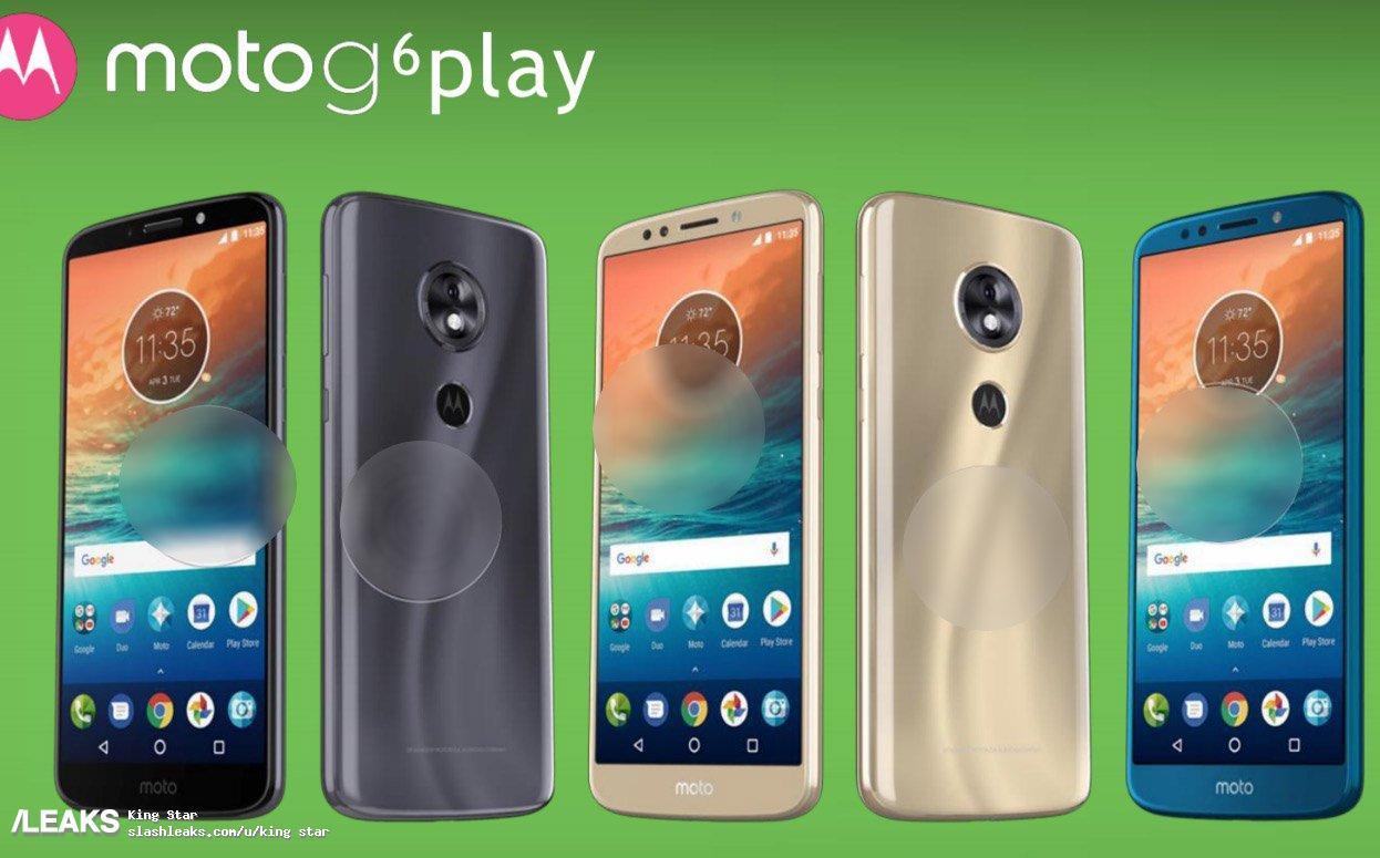 img Moto G6 Play renders leaked