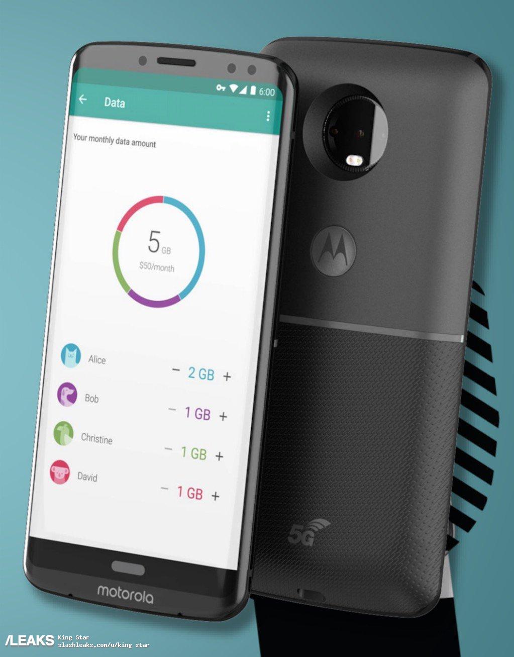 img Moto Z3 with 5G Moto Mode render leaked