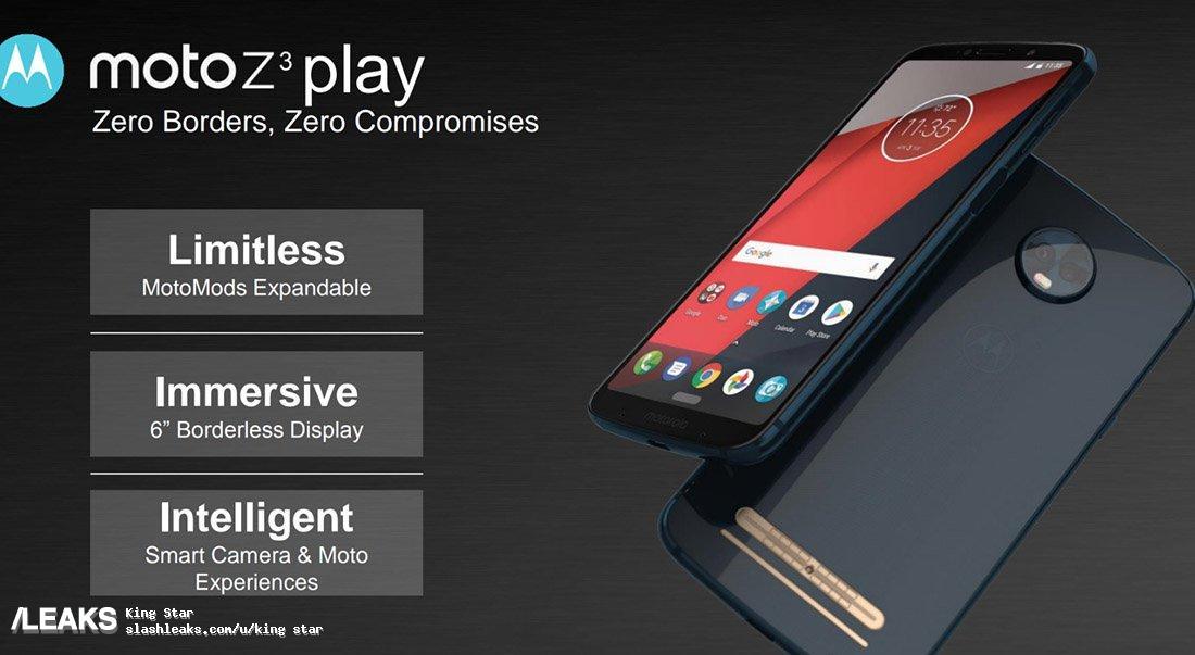img Moto Z3 Play render leaked