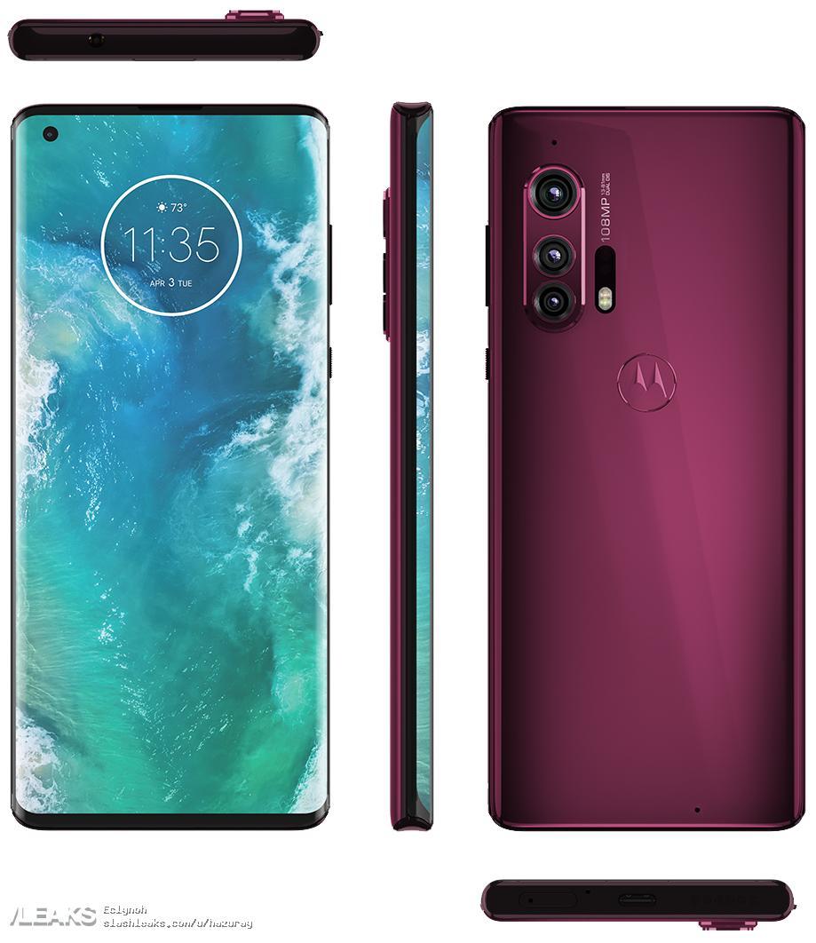 img Motorola Edge+ Official Renders - 108MP Confirmed