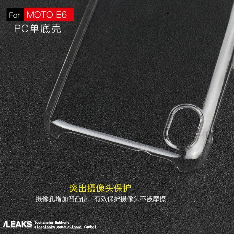 img Motorola Moto E6 case leaked