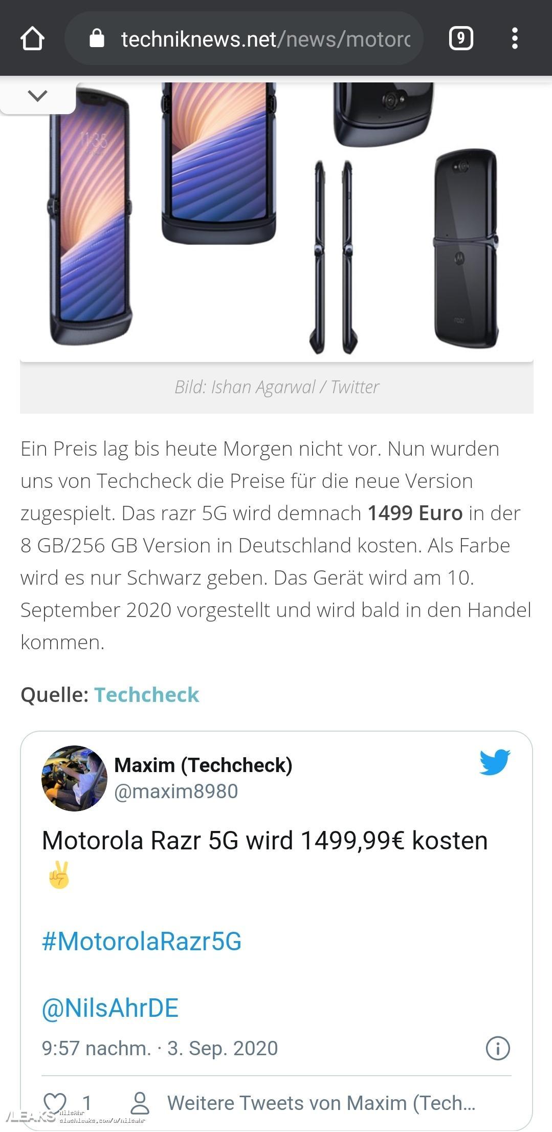 img Motorola Razr 2020 price