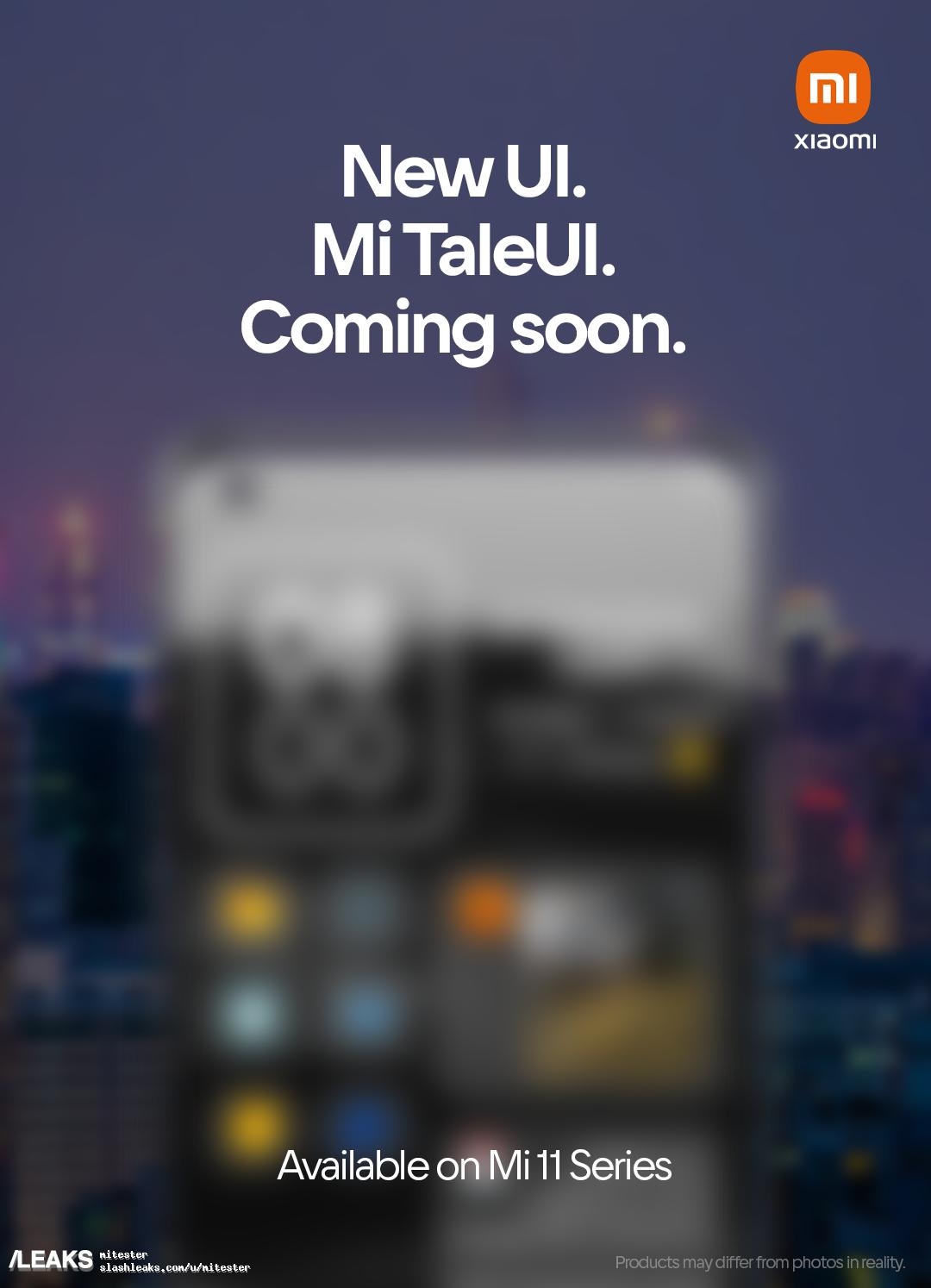 img New Xiaomi UI Shell for flagships (Mi 11) - Mi TaleUI