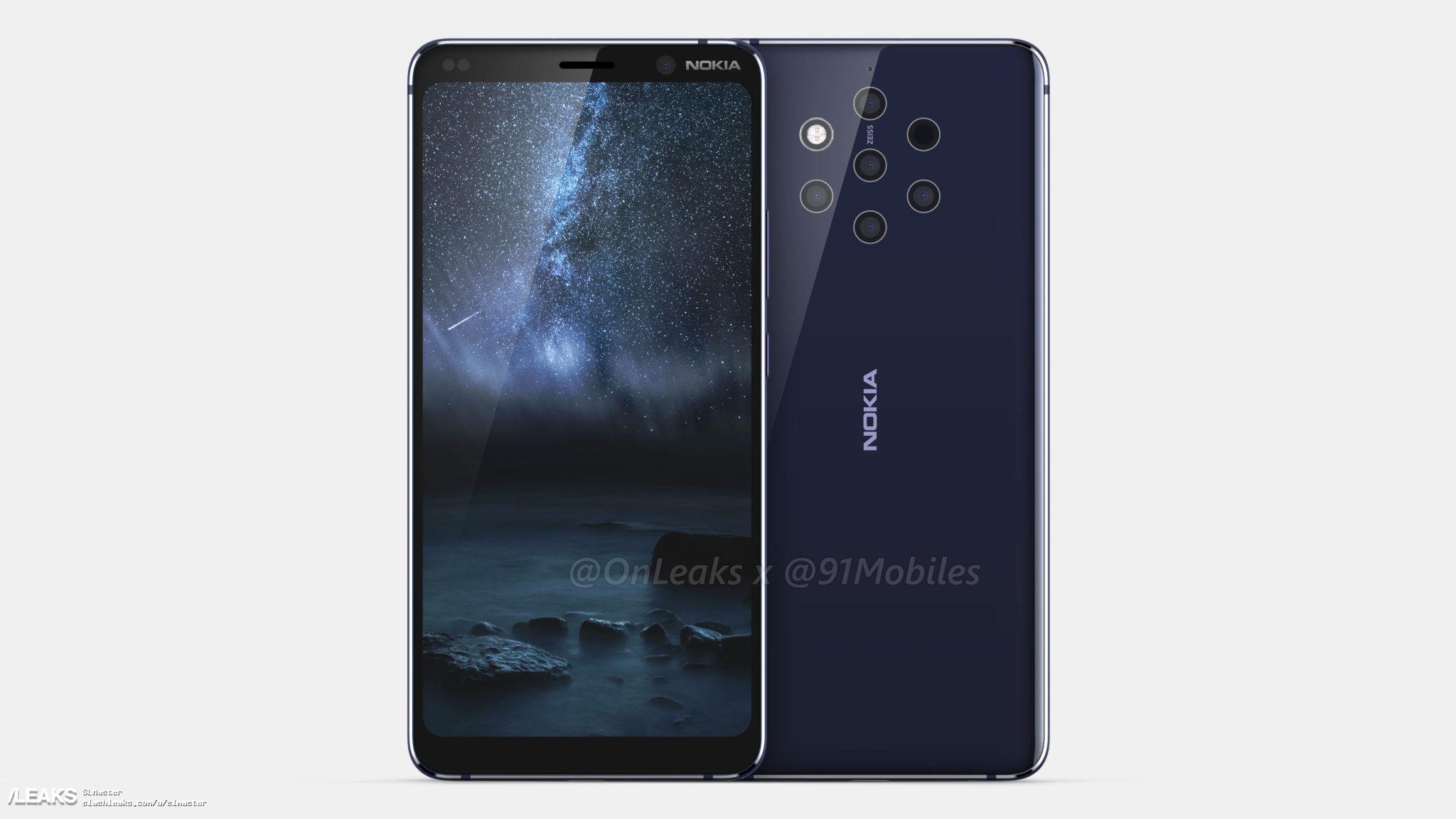 img Nokia 9 leak by Onleaks x 91mobiles