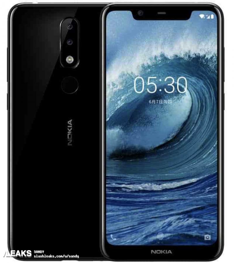 img some Nokia X5 (5.1 plus) press renders leaked