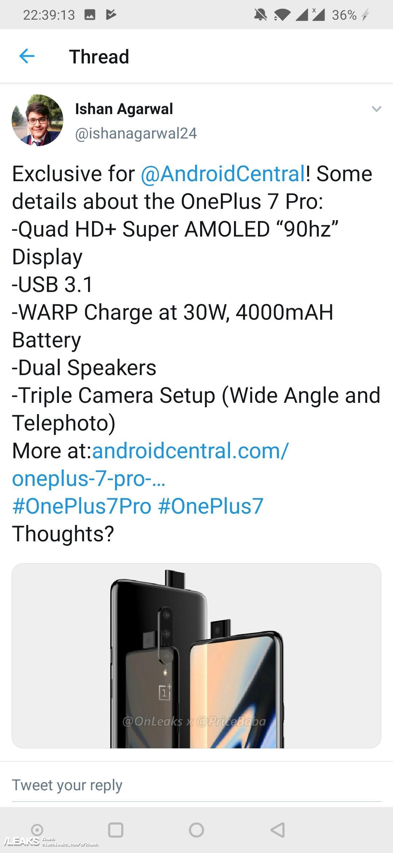 Oneplus 7 and 7 Pro specs leaked « SLASHLEAKS