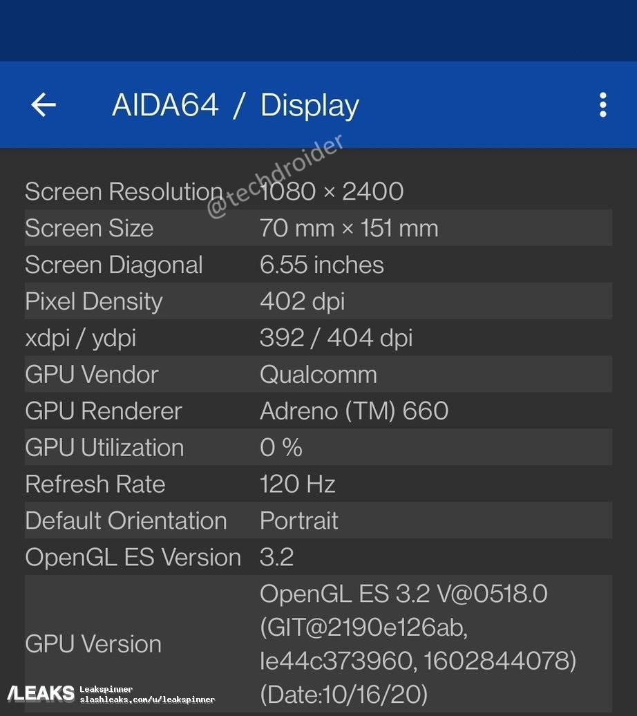 img OnePlus 9 key specs leaked through AIDA64