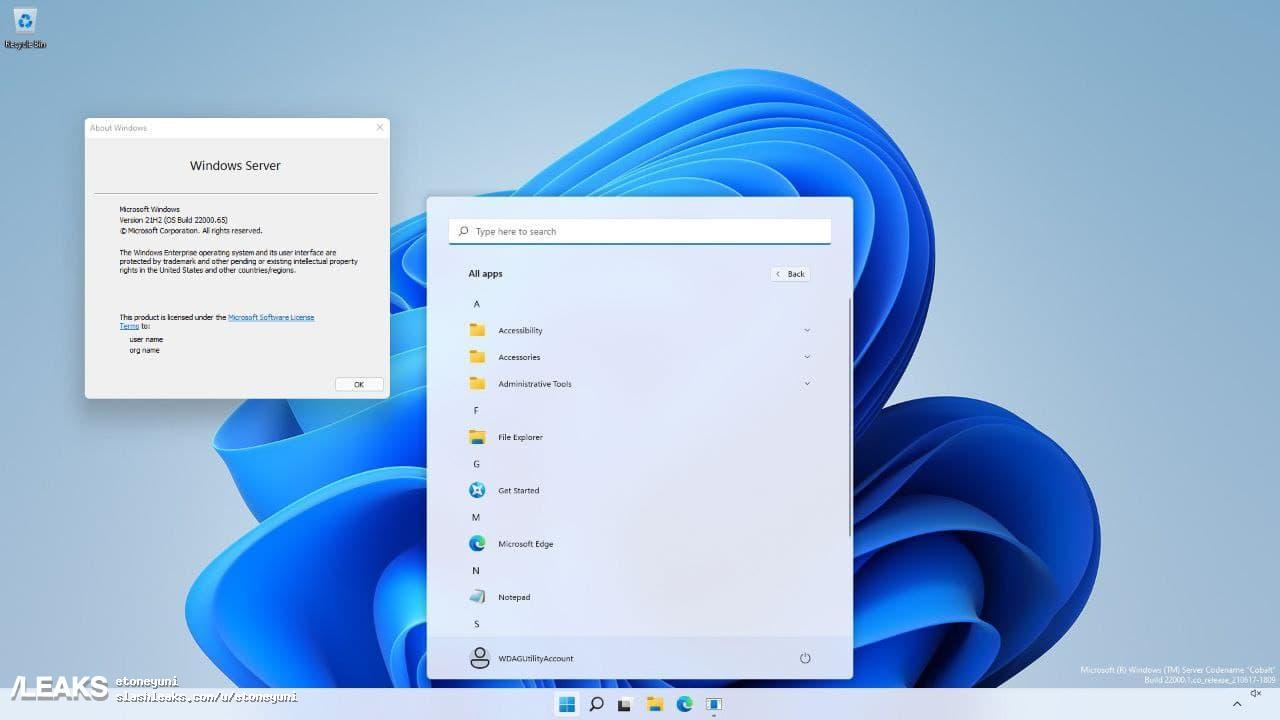 img Windows Server 2023 (based on Windows 11) screenshot leak