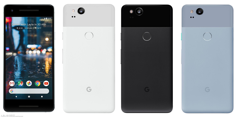 img Google Pixel 2 press render and specs leaked by Evan Blass