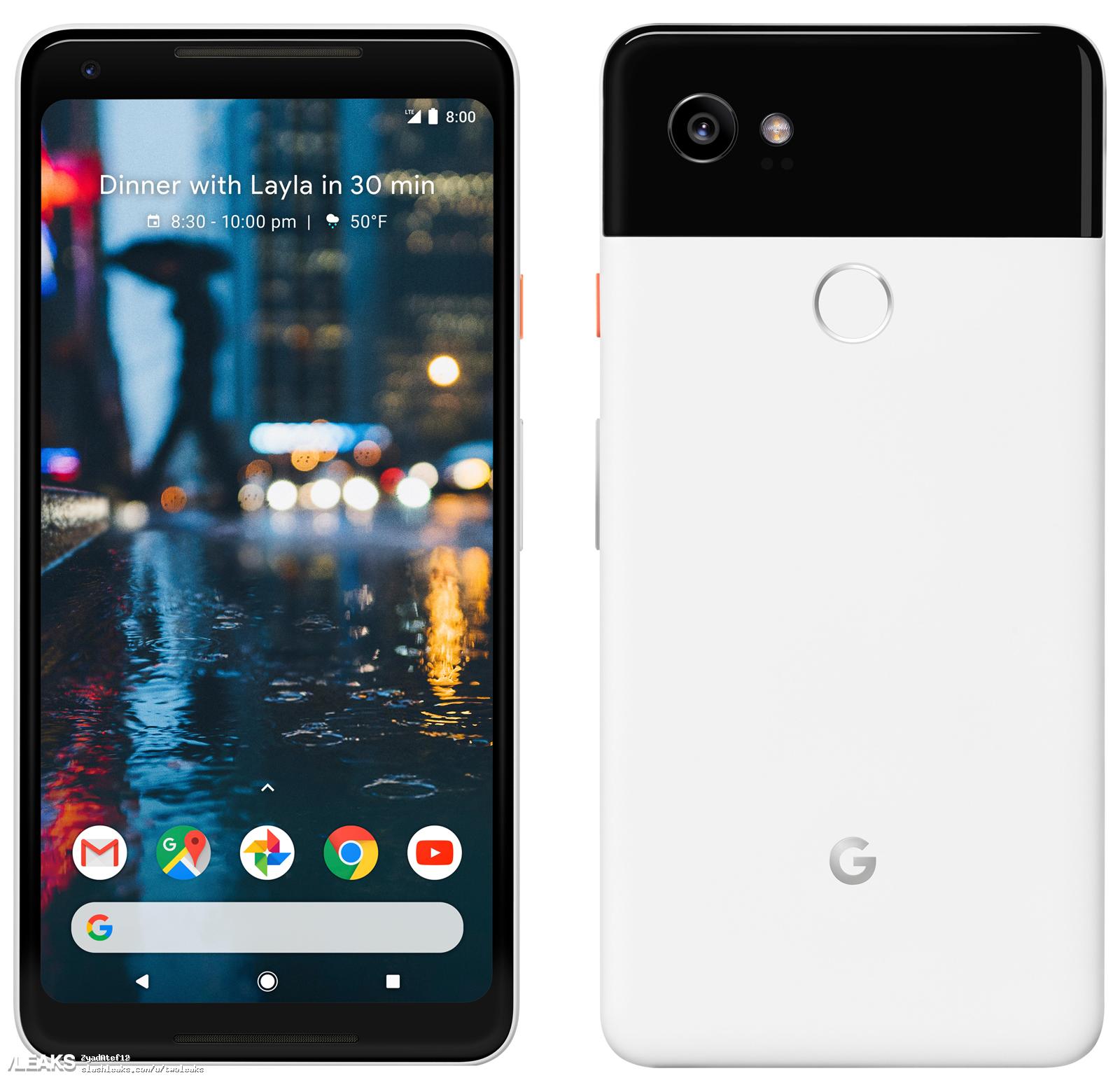 img Google Pixel 2 XL press render and specs leaked by Evan Blass