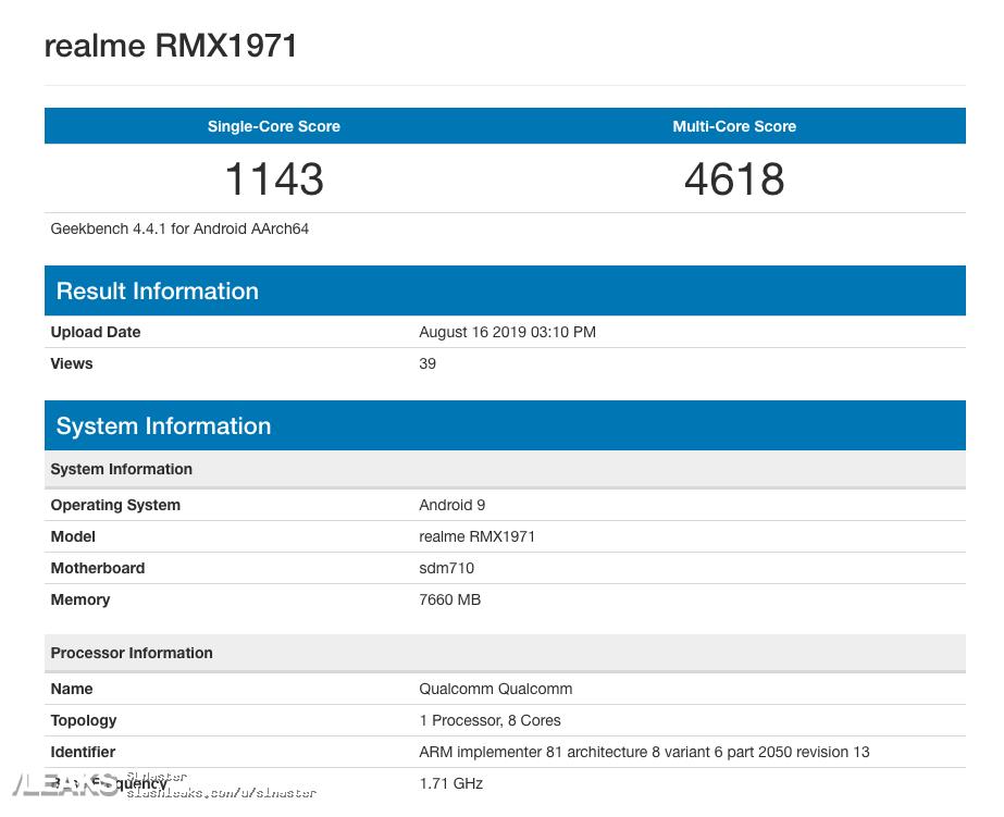 img Realme RMX1971 Runmark Leaks
