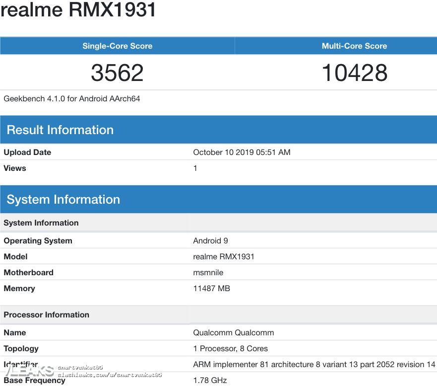 img Realme X2 Pro RMX1931 Geekbench